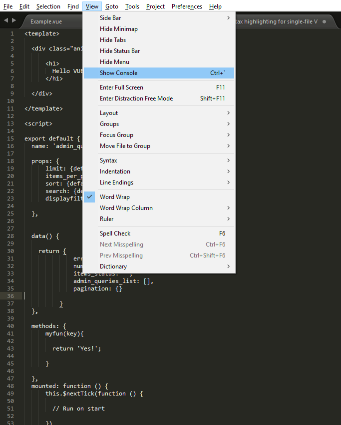 Add VUE syntax highlighting support to Sublime Text 3 – WiserBit