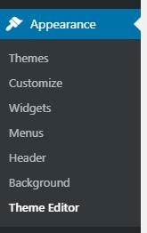 Appearance->Theme Editor.