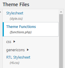 Theme Functions (functions.php).